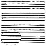 TXErfolg 16 Stück Dekupiersägeblatt 127mm Feinschnitt Laubsägeblätter mit Stift 10/15/18/24 Zähne passend für Dekupiersägen für Holzbearbeitung Elektrowerkzeug-Zubehör